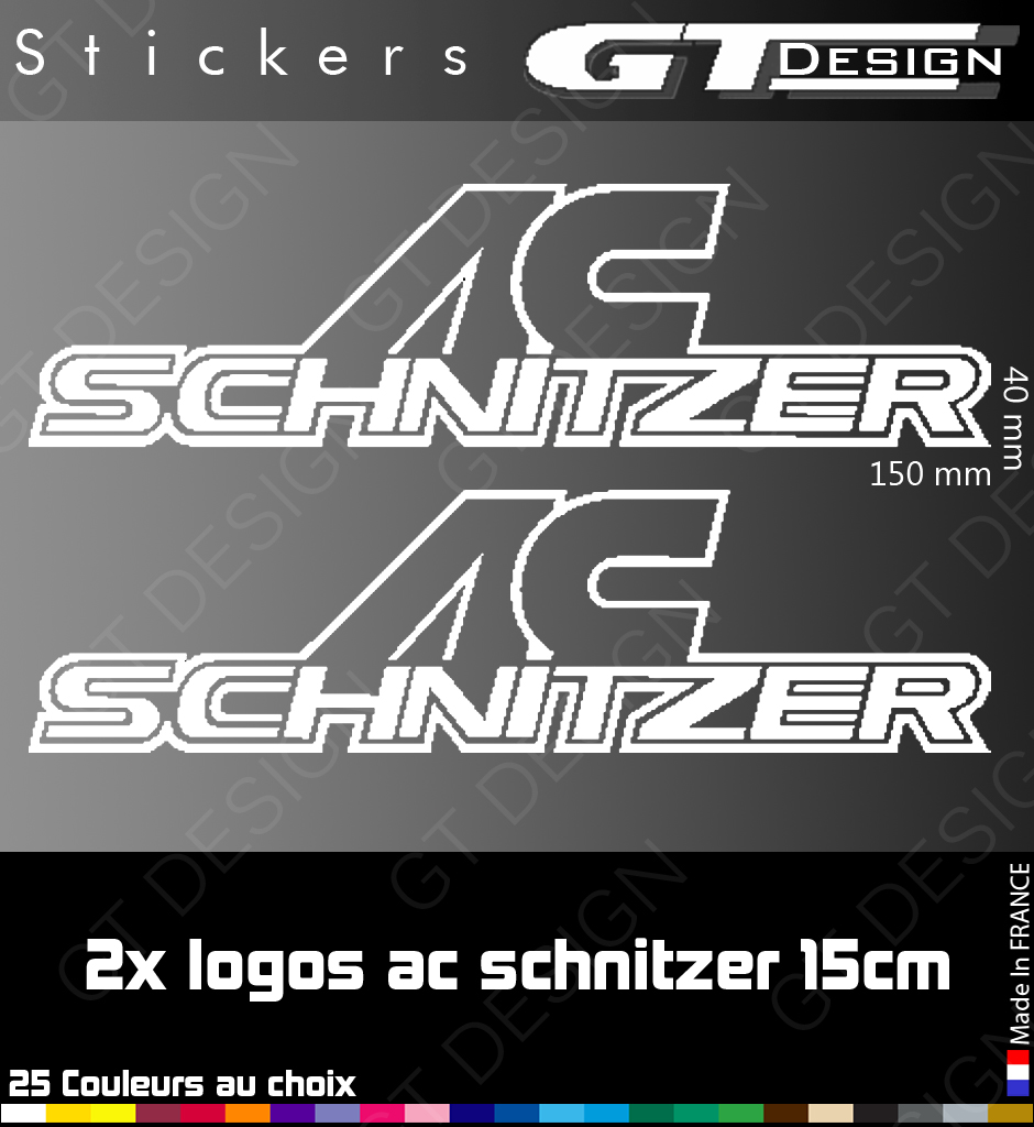 2 stickers logo ac schnitzer 15 cm. Black Bedroom Furniture Sets. Home Design Ideas