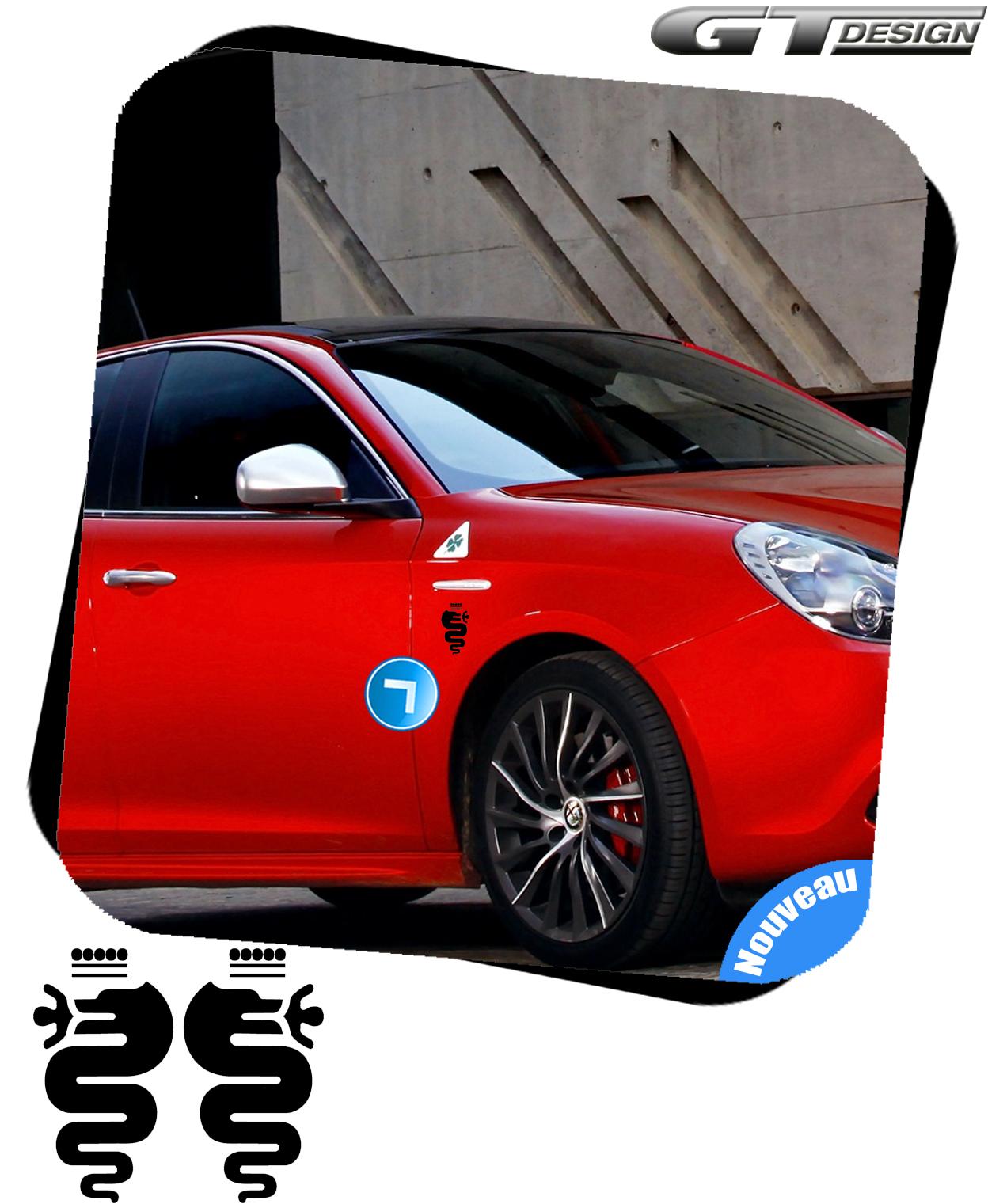 sticker biscione autocollant alfa romeo mito 147 giulietta 156 adesivi alr030b ebay. Black Bedroom Furniture Sets. Home Design Ideas