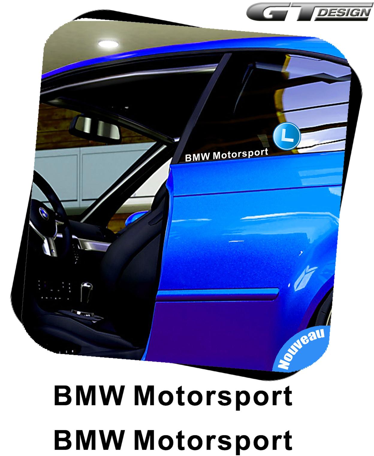 2 sticker bmw motorsport 200mm decal peganita aufkleber. Black Bedroom Furniture Sets. Home Design Ideas