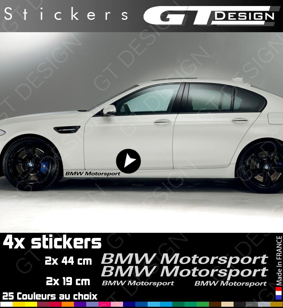 sticker bmw motorsport lot de 4 bmw005 decals peganitas aufkleber ebay. Black Bedroom Furniture Sets. Home Design Ideas