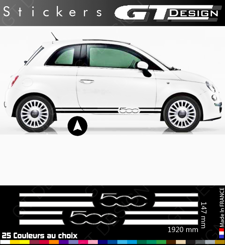 sticker decal peganitas aufkleber fiat 500 sport abarth punto bande side fia020 ebay. Black Bedroom Furniture Sets. Home Design Ideas