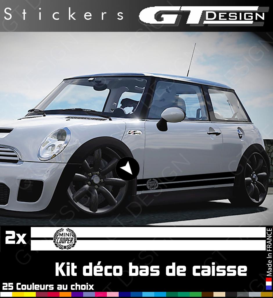 kit stickers deco bas de caisse mini cooper couronne de laurier s mnc29ez ebay. Black Bedroom Furniture Sets. Home Design Ideas