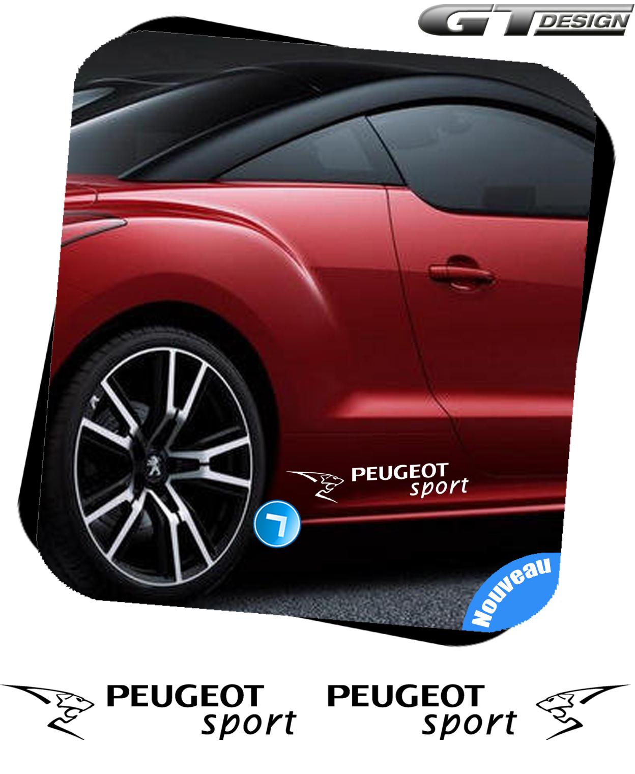 2 sticker autocollant peugeot sport 106 206 207 208 306. Black Bedroom Furniture Sets. Home Design Ideas