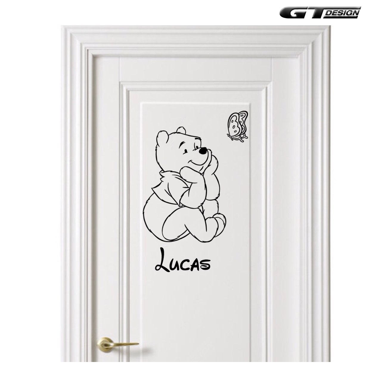 Sticker mural disney winnie l 39 ourson prenom enfant chambre - Chambre winnie l ourson pas cher ...